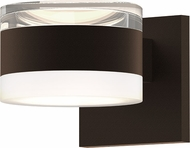 Sonneman 7302.FH.FW.72.WL REALS Modern Textured Bronze LED Exterior Wall Lamp