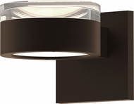 Sonneman 7302.FH.PL.72.WL REALS Contemporary Textured Bronze LED Outdoor Light Sconce
