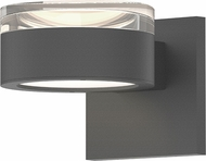 Sonneman 7302.FH.PL.74.WL REALS Modern Textured Gray LED Exterior Lighting Sconce