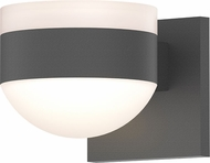 Sonneman 7302.FW.DL.74.WL REALS Contemporary Textured Gray LED Outdoor Wall Light Fixture