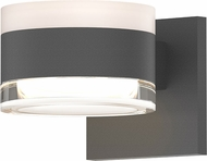 Sonneman 7302.FW.FH.74.WL REALS Modern Textured Gray LED Exterior Wall Sconce Lighting