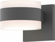 Sonneman 7302.FW.FW.74.WL REALS Contemporary Textured Gray LED Outdoor Wall Lighting Fixture
