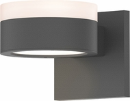 Sonneman 7302.FW.PL.74.WL REALS Modern Textured Gray LED Exterior Wall Sconce