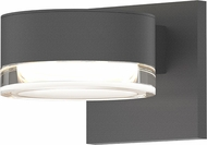 Sonneman 7302.PL.FH.74.WL REALS Modern Textured Gray LED Exterior Lamp Sconce