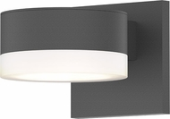 Sonneman 7302.PL.FW.74.WL REALS Contemporary Textured Gray LED Outdoor Lighting Wall Sconce
