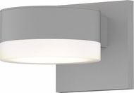 Sonneman 7302.PL.FW.98.WL REALS Modern Textured White LED Exterior Wall Lighting Sconce