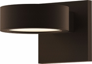 Sonneman 7302.PL.PL.72.WL REALS Contemporary Textured Bronze LED Outdoor Wall Sconce Lighting