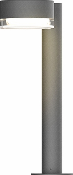 Sonneman 7303.PC.FH.74.WL REALS Contemporary Textured Gray LED Outdoor Bollard Pathway Lighting