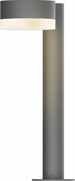 Sonneman 7303.PC.FW.74.WL REALS Contemporary Textured Gray LED Outdoor Bollard Landscape Lighting Fixture