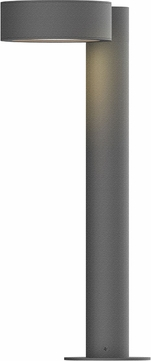 Sonneman 7303.PC.PL.74.WL REALS Contemporary Textured Gray LED Outdoor Bollard Residential Landscape Lighting
