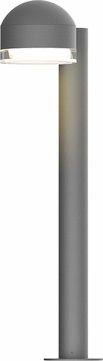Sonneman 7304.DC.FH.74.WL REALS Contemporary Textured Gray LED Outdoor Bollard Pathway Lighting