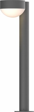 Sonneman 7304.PC.DL.74.WL REALS Contemporary Textured Gray LED Outdoor Bollard Landscape Light