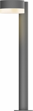 Sonneman 7304.PC.FW.74.WL REALS Contemporary Textured Gray LED Outdoor Bollard Landscape Lighting Fixture