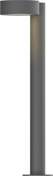 Sonneman 7304.PC.PL.74.WL REALS Contemporary Textured Gray LED Outdoor Bollard Residential Landscape Lighting