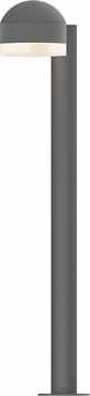 Sonneman 7305.DC.FW.74.WL REALS Contemporary Textured Gray LED Outdoor Bollard Landscape Lighting Fixture