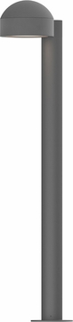 Sonneman 7305.DC.PL.74.WL REALS Contemporary Textured Gray LED Outdoor Bollard Residential Landscape Lighting