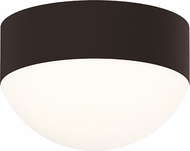 Sonneman 7309.XX.DL.72.WL REALS Modern Textured Bronze LED Exterior Flush Mount Lighting Fixture