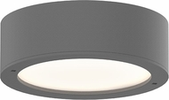 Sonneman 7309.XX.PL.74.WL REALS Modern Textured Gray LED Exterior Ceiling Light Fixture