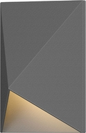 Sonneman 7320.74.WL Triform Compact Contemporary Textured Gray LED Outdoor Wall Light Sconce