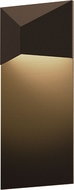 Sonneman 7330.72.WL Triform Contemporary Textured Bronze LED Outdoor Wall Sconce