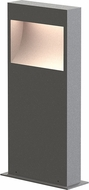 Sonneman 7361.74-WL Square Curve Contemporary Textured Gray LED 16  Exterior Bollard Landscape Light