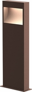 Sonneman 7362.72-WL Square Curve Modern Textured Bronze LED 22  Outdoor Bollard Landscaping Light