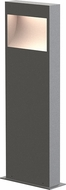 Sonneman 7362.74-WL Square Curve Contemporary Textured Gray LED 22  Exterior Bollard Pathway Lighting