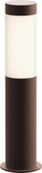 Sonneman 7371.72-WL Round Column Contemporary Textured Bronze LED 16  Outdoor Bollard Landscape Lighting Design