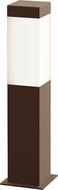 Sonneman 7381.72-WL Square Column Modern Textured Bronze LED 16  Outdoor Bollard Landscaping Light