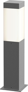 Sonneman 7381.74-WL Square Column Contemporary Textured Gray LED 16  Exterior Bollard Pathway Lighting