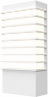 Sonneman 7412.98-WL Tawa Contemporary Textured White LED Exterior 13  Sconce Lighting