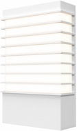 Sonneman 7414.98-WL Tawa Contemporary Textured White LED Exterior 13 Lighting Wall Sconce