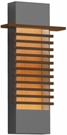 Sonneman 7417.74-WL Kengo Contemporary Textured Gray LED Exterior 20  Wall Lighting Fixture