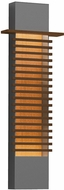 Sonneman 7418.74-WL Kengo Contemporary Textured Gray LED Exterior 30  Wall Sconce Light