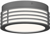 Sonneman 7420.74 Marue Contemporary Textured Gray LED 8  Ceiling Light Fixture