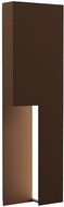 Sonneman 7430.72-WL Incavo Contemporary Textured Bronze LED Exterior 20  Wall Sconce
