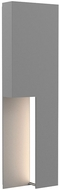 Sonneman 7430.74-WL Incavo Contemporary Textured Gray LED Exterior 20  Wall Lamp