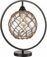 Stein World 77167 Fisher Contemporary Bronze / Clear / Natural Rope Table Lamp