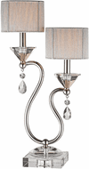 Stein World 96758 Krystal Contemporary Polished Nickel Lighting Table Lamp