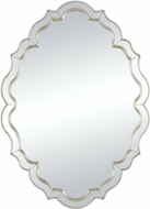 Sterling 1114-311 Demoiselle Clear Mirror / Silver Demoiselle Cr�me Silver 40� Glass and Composite Wall Mirror
