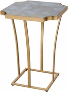 Sterling 1114-342 Xanadu Modern Gold Leaf / Faux Grey Marble Side Table