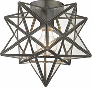 Sterling 1145-005 Moravian Modern Bronze & Clear Ceiling Light Fixture