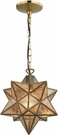 Sterling 1145-006 Moravian Contemporary Gold & Antique Mercury Mini Pendant Light