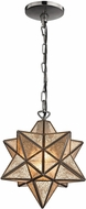 ELK Home 1145-007 Moravian Modern Bronze & Antique Mercury Mini Lighting Pendant