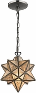 Sterling 1145-009 Moravian Modern Bronze & Antique Mercury Mini Hanging Lamp