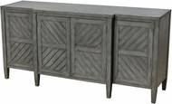 Sterling 1170-035 Half Moon Bay Reclaimed Grey Veneer Half Moon Bay Reclaimed Grey MDF with Solid Wood 4-Door Credenza