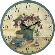 Sterling 118-033 Bouquet Green Bouquet Clock