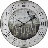 Sterling 118-037 New York, New York Printed New York, New York Clock