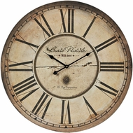 Sterling 118-042 Carte Antique Cream & Black Carte Postal Clock With Antique Cream Metal Frame