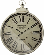 Sterling 118-044 Kensington Station Antique Cream & Black Kensington Station Clock With Antique Cream Metal Frame